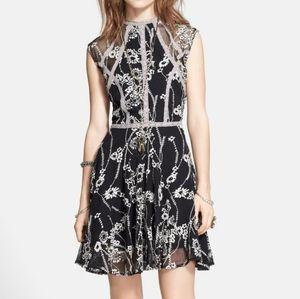 Free People | Black Laurel Lace Boho Swing Dress